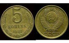 RUSSIE   5 kopek   1987