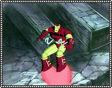 IRON MAN Original Hand-Painted Production Cel and Background COA - Very Detailed