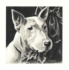 Bull Terrier - Morgan Dennis Dog Print - Matted