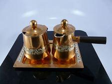 Superb Sterling / Copper A&C Creamer / Sugar / Tray Set Victoria Taxco  ExcCond