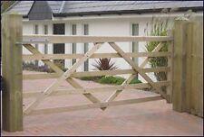 8FT WOODEN SOMERFIELD FIVE BAR FIELD GATE Left Hung
