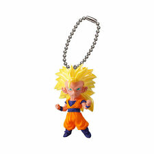 Dragon Ball Z Super Anime Mascot Swing Pvc Keychain Sd Figure ~ Ss3 Goku @6530