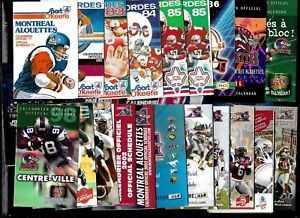 MONTREAL ALOUETTES O'KEEFE POCKET SCHEDULE CFL FOOTBALL + AUTOGRAPH SEE LIST