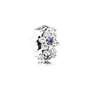 Authentic Pandora Forget Me Not Spacer Sterling Silver 925 ALE Charm 791834ACZ