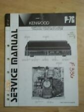 Kenwood Service Manual for the P-7G Turntable   mp