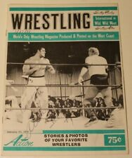 Action Wrestling Magazine 1974 (Signed) by Alberto Madril & George Wells