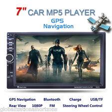 "Doppio 2Din 7"" GPS Navigatore Autoradio Car HD CD DVD Player iPod MP5 USB SD AUX"