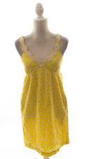 Tibi Yellow Sleeveless Eyelet Sun Dress Size 4