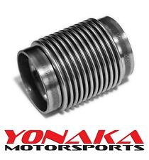 "Yonaka 2.5"" ID Slip Fit T304 Polished Stainless Steel Exhaust Bellow Flex Joint"