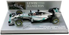 F1 1/43 MERCEDES GP W05 HAMILTON ABU DHABI GP WORLD CHAMPION 2014 MINICHAMPS