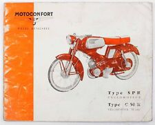 Catalogue  MOTOCONFORT - VELOMOTEUR Type C 50 R - CYCLOMOTEUR Type SPR