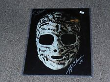 Boston Bruins Gerry Cheevers Autographed 11x14 Photo of The Mask