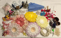Vintage Craft Supply, Umbrella, Handmade Roses, Bicycles, Bird Cages, Huge Lot