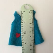 Attractive Felt Pinafore Dress - ruler in photos - vintage dolls clothes