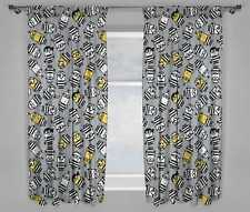 NEW DESPICABLE ME 3 MINIONS MOVIE JAILBIRD CHILDRENS PAIR OF CURTAINS - 66 x 54