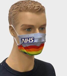 UK - Box of 2 Adult Unisex Washable Reusable Face Masks – Thank You NHS - UK