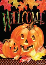"Briarwood Lane Pumpkin Pals Halloween House Flag 28"" x 40"" Free Shipping!"