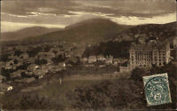 Aix-les-Bains France Postkarte 1907 Roche du Roi Totalansicht gelaufen frankiert