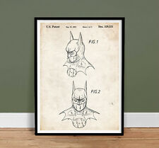 BATMAN DARK KNIGHT POSTER 1992 PATENT ART 18x24 PRINT SUPERHERO MOVIE (unframed)