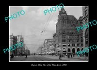 OLD LARGE HISTORIC PHOTO DAYTON OHIO VIEW OF THE MAIN STREET c1902