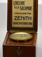 RARE Zenith Observatory Marine CHRONOMETER POWER RESERVE Navy Captain Deck clock