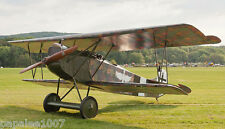 """Model Airplane Plans (RC): Fokker D-VII 1/10 Scale 34"""" Biplane for .049 -.09"""