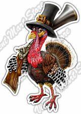 "Turkey Shoot Hunting Thanksgiving Bird Gun Car Bumper Vinyl Sticker Decal 4""X5"""