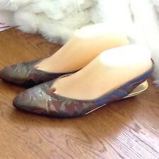 """Bruno Magli Slingback Pump  w/Artsy Splashes of Color 7.5 AAAA  9 3/4"""" by 2 3/4"""""""