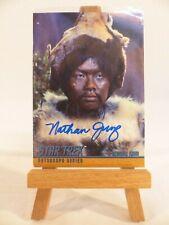 Star Trek TOS Season 3 A84 Nathan Jung Genghis Khan Skybox Autograph Card