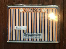 """CLEMSON UNIVERSITY TIGERS  -Magnetic ( 4"""" x 6"""" ) Three In One Picture Frame -New"""