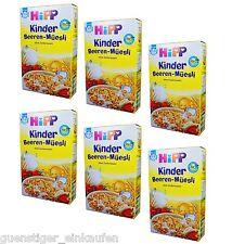 (20,70 €/kg) 6x 200g Hipp bambini bacche Müesli Raisin Bran senza zucchero addizionale 1-3 anni