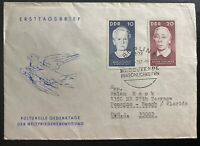 1966 Berlin DDR East Germany First Day Cover  To Pompano FL USA World Peace