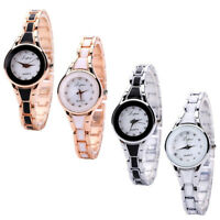 Fashion Womens Stainless Steel Luxury Bracelet Analog Quartz Wrist Watch 4 Color