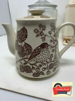 """Vintage """"Tree Song"""" theme Teapot - Made in Japan VCG   approx 6 X 9"""""""