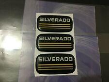 3pcs New Custom Epoxy Resin Silverado Emblem Pillar Cab Badge Yellow