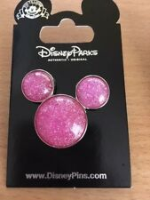 Mickey Mouse Icon - Pink Glitter Pin 82638