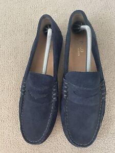 Ralph Lauren Navy Slip On Shoes Size 9