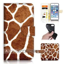( For iPod Touch 6 ) Wallet Flip Case Cover AJ21131 Giraffe Skin