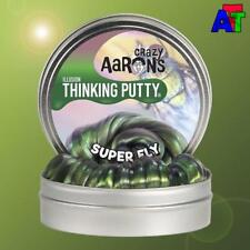 """Crazy Aaron's Thinking Putty Super Fly - Mini Tin 2"""" ILLUSION Green Interference"""