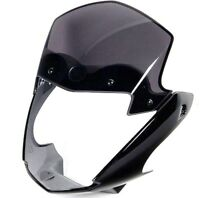 NEW GENUINE YAMAHA YBR125 HEADLIGHT FAIRING & WINDSCREEN PANEL WIND SHIELD BLACK