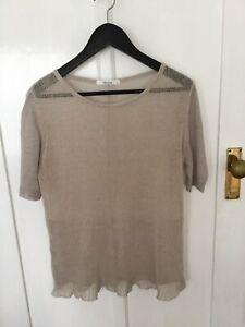 Morrison Linen Knit Jumper Size 2