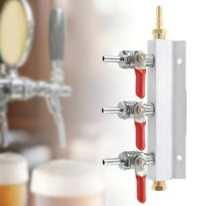 3 Way CO2 Gas Distribution Manifold Beer Dispensing Barrel Dispenser