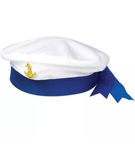 Ladies Men's SAILOR HAT MARINE NAVY SEAMAN MARINE CAPTAINS Fancy Dress Hat