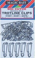 Magic Bait 777-12 Big Catch Stainless Steel Trotline Clips 25-Pack