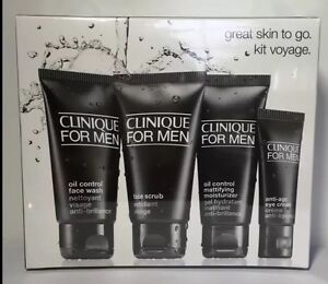 Clinique For Men Great Skin To Go Set - Normal to Oily Skin 4 Pieces, Sealed