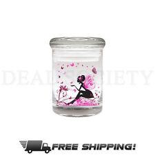 FAIRY Glass Stash Nug Jar Airtight Smell-Proof 1/8 Medical Jar