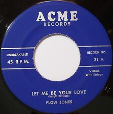 HIX ROCKABILLY 45 tr/min ~ Plow Jones on ACME ~ RARE'56 Kentucky Bopper ~ M -