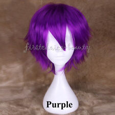 Pop Short Cosplay Wig Women Mens Straight Anime Party Hair Wig Heat Resistant fw
