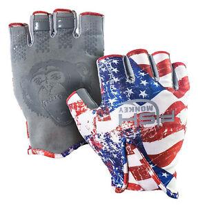 Fish Monkey Gloves Stubby Guide Gloves Large Americana FM18-AMER-L~00767