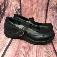 Dansko Kate Women's Black Leather Mary Jane Clogs Shoes Size 40 US 9.5 - 10
